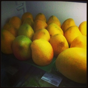 The mangoes have landed---love from home across the world!